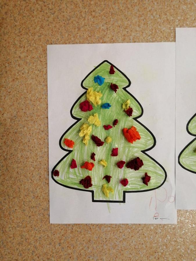 Praca Plastyczna Choinka A4 : Święty Mikołaj | Adwent i ...